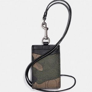 Coach camouflage ID badge card lanyard